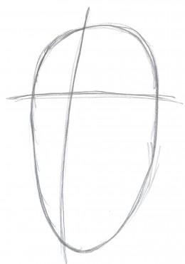 Draw zombie Santa face part one - The head shape.