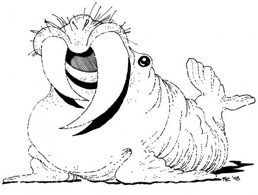 Fat-Tusk Walrus, rickzimmerman 2010