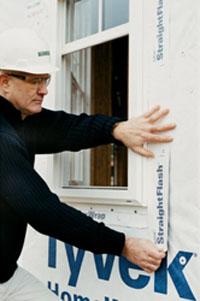 Contractor Installing StraightFlash