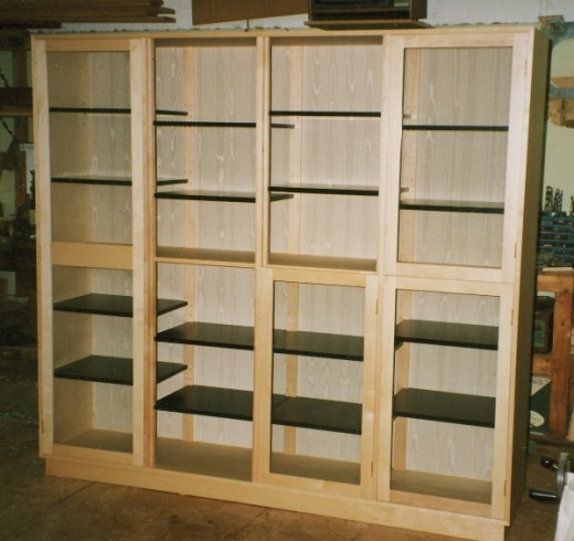 rock maple cabinet