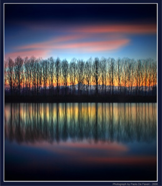 """Twilight by the riverbank"" by Paolo De Faveri. (c)2008 Paulo De Faveri. More at Pixdaus."