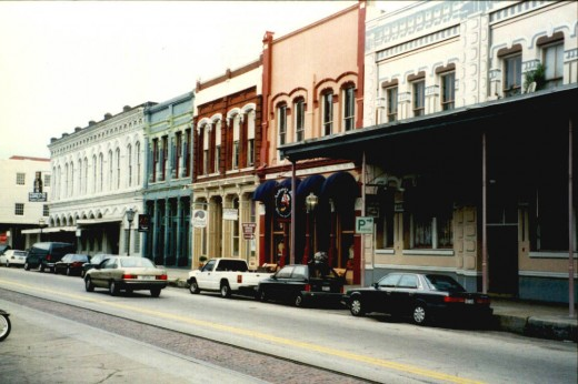 This is part of the Strand in the Historic District