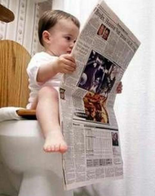 Morning Toilet Reading