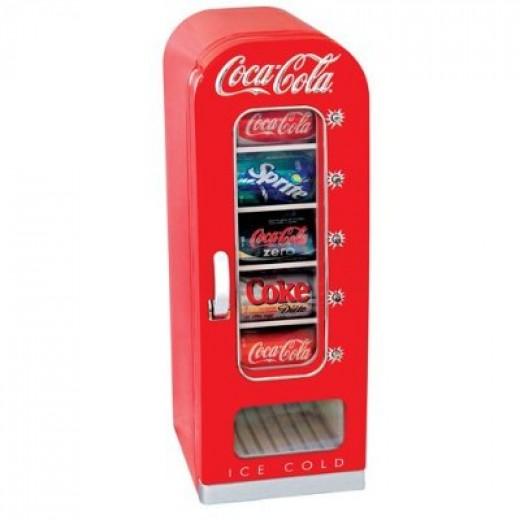 Mini soda vending machine