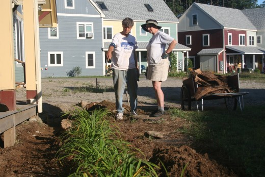 Community landscaping project in progress
