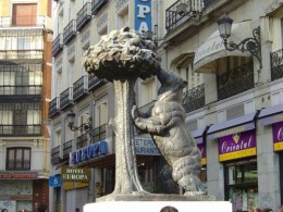 Statue of bear in Puerto del Sol  photo credit google impages