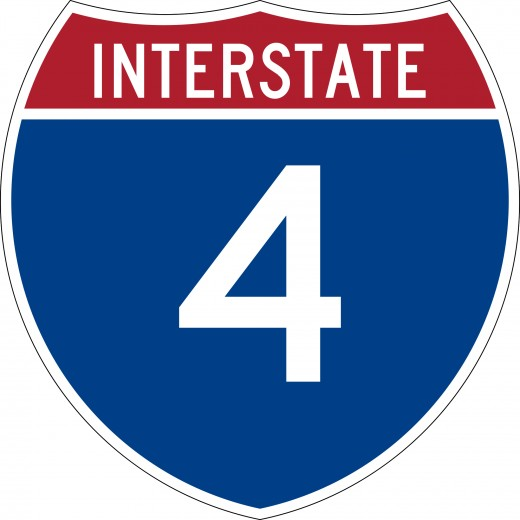 Template for the Interstate 4 shield