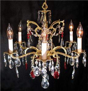 Spanish Crystal Chandelier - Antique photo courtesy of eBay.com