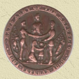 Civil war veterans medal made in 1890 Grand Army Of The Republic