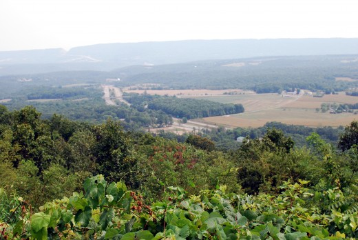 A view from Town Hill. Note the Sideling hill cut in the distance.