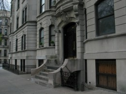 architectural details of one house in Park Slope