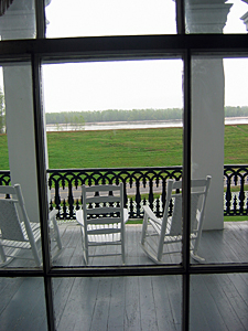 Mississippi River from veranda of Nottoway Plantation.  Image from freelargehhotos.com