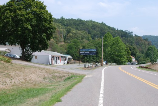 A shop on 144 West of town hill.