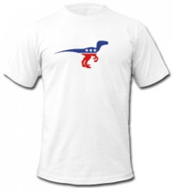 Velociraptor Party Political T-shirt