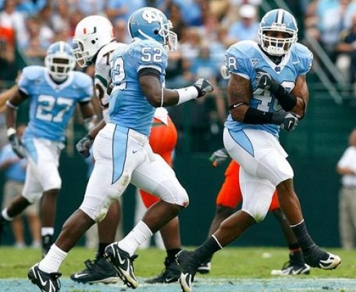 2010 North Carolina Tarheels - (vs LSU (Atlanta), vs Georgia Tech, vs Clemson, at Miami,Fl, at Florida State, vs Virginia Tech, vs NC State)