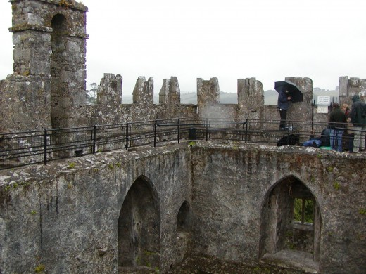 The inner quad of Blarney Castle