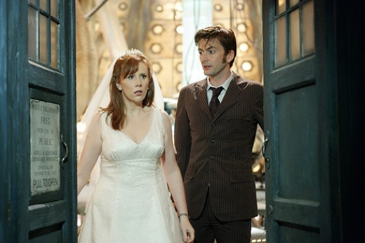 The Doctor as he explains to Donna that the TARDIS is a spaceship