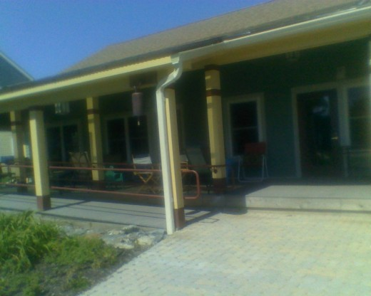 Our Common House Porch and open-air Patio