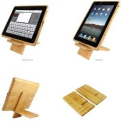 Natural Bamboo iPad Case and Stand Eco Friendly
