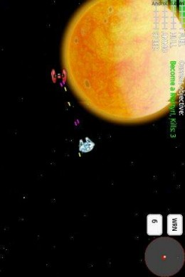 Star Fighter in space against enemy fighter, screenshot courtesy of Androlib.com