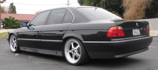 Nice wheels! A late model 7 series BMW. This one is beautiful in black.