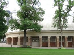 Outside of the Tabernacle in Salt Lake City, Utah