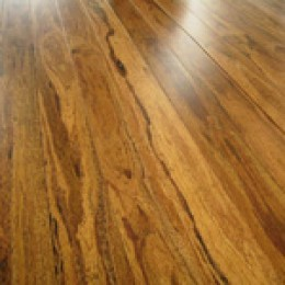 Beautiful grain and color of coconut flooring