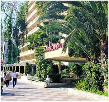 street entrance to Hotel Venus, Benidorm