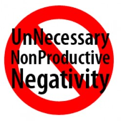 Keep negative energy at bay!