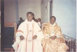 AN OPEN LETTER TO GEN.MUHAMMED BUHARI (RTD):Rev. Fr. Kenneth Evurulobi C with the radical lawywer,Fr. I.G. Nwoko,his boss at St. Margret's, Aba in 1998.