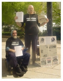 This is will and myself on a common cause together concerning freeing Mumia Abu Jamal a few years ago.