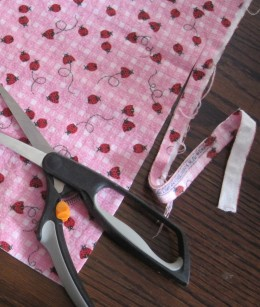 First Cut To Shape Flannel For Crocheting The Edge.