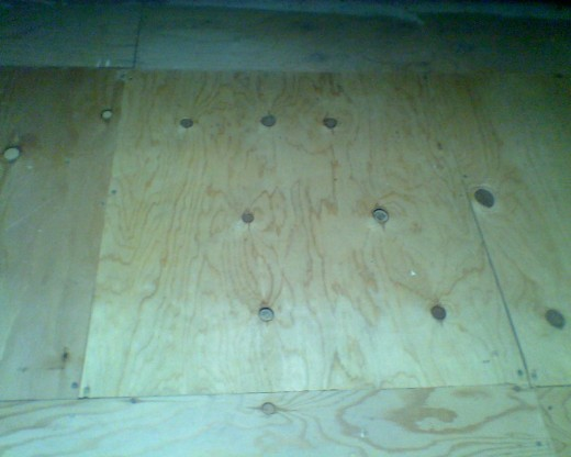 The floorboards in our attic, carefully placed down by our friend and handyman, Rich Kramer