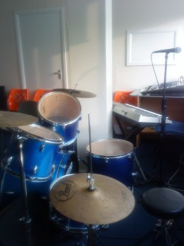 The First Drum Set I used