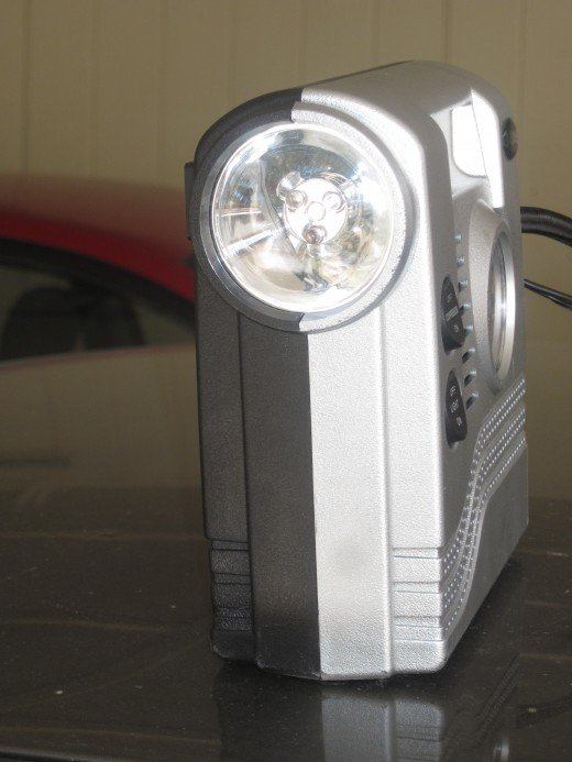 Light on portable Car Tire Inflator