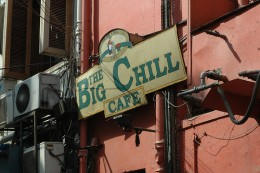 Outside Big Chill in East of Kailash New Delhi