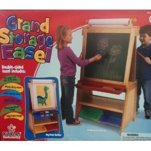 Kidkraft Grand Storage Double Sided Easel with Paper Roll, Storage Bins, and Paint Cups