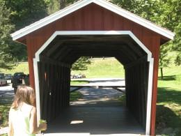 The bridge at Kent Falls
