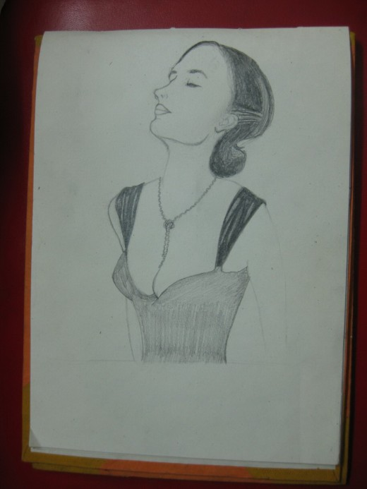 Eva Green's Drawing in Progress:5