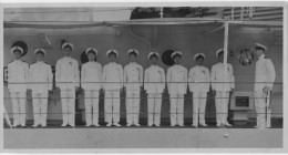 Dad standing tall on deck (3rd on the left)