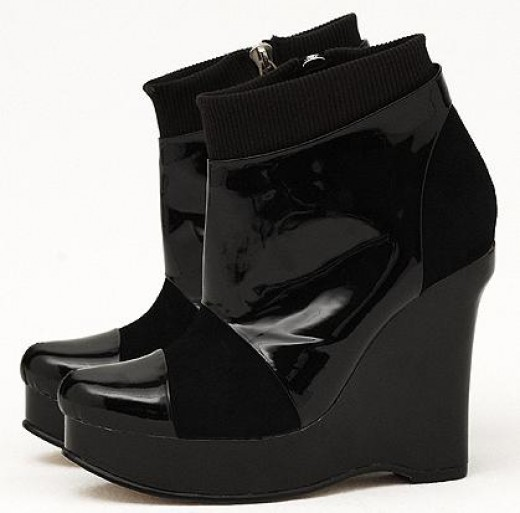 Tristan Blair Leiza Wedge Boots, 270.00
