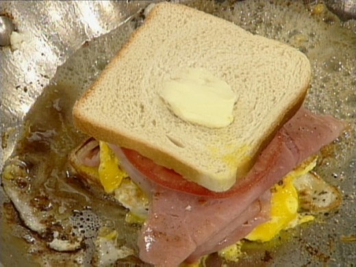 My Grandmother always made us Egg and Ham Sandwiches and I couldn't hardly wait for her to make them.