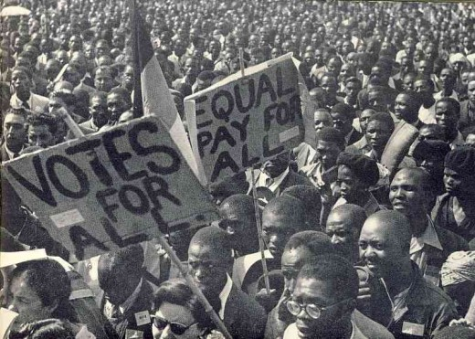 ANC meeting in the 1950s. Photo from Drum Magazine