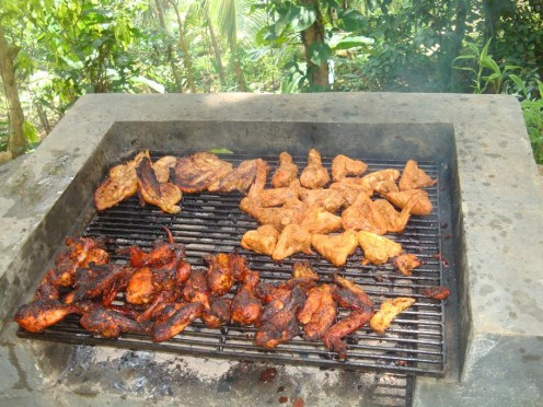 barbecue prepared at the Retreat
