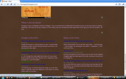 Google + Blogs blog (http://humagaia2.blogspot.com/) by Humagaia next page
