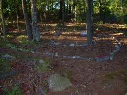 Wooded labyrinth at my co-housing village in central Massachusetts