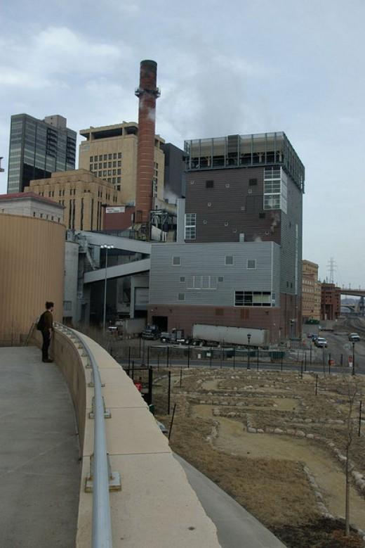 Biomass energy production plant.
