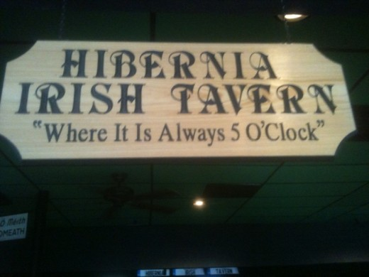 Hibernia Irish Tavern, my first real review, of this new place to eat.