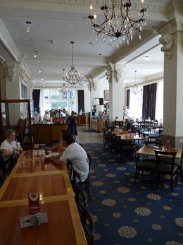 The Nauvoo Cafe in the Joseph Smith Memorial Building.