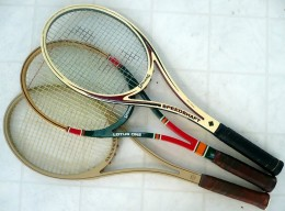 Ash wood tennis racket